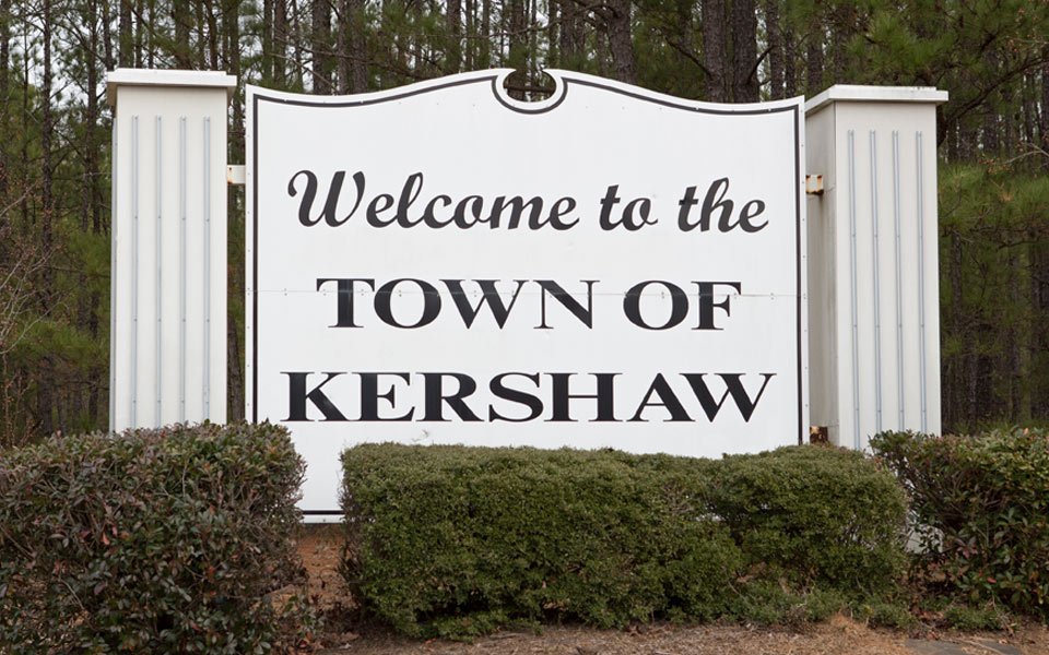 Kershaw welcome sign